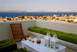 Luxury villas in Greece - Xenon Estate Althea master bedroom spacious veranda panoramic view
