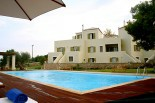 Luxury villas in Greece - Xenon Estate 17m x 9m swimming pool and part of the resort's 3 villas